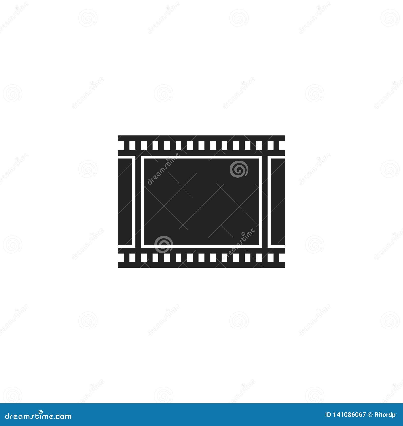 Film-Band Glyph-Vektor-Ikone, Symbol oder Logo