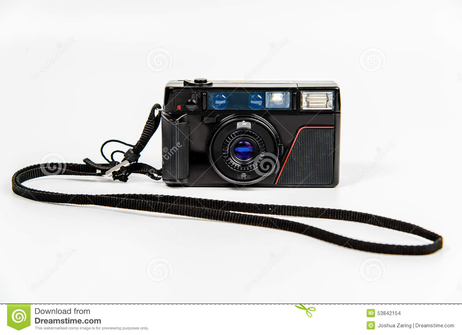 Film camera with lanyard stock photo image 53842154 for Camera film logo
