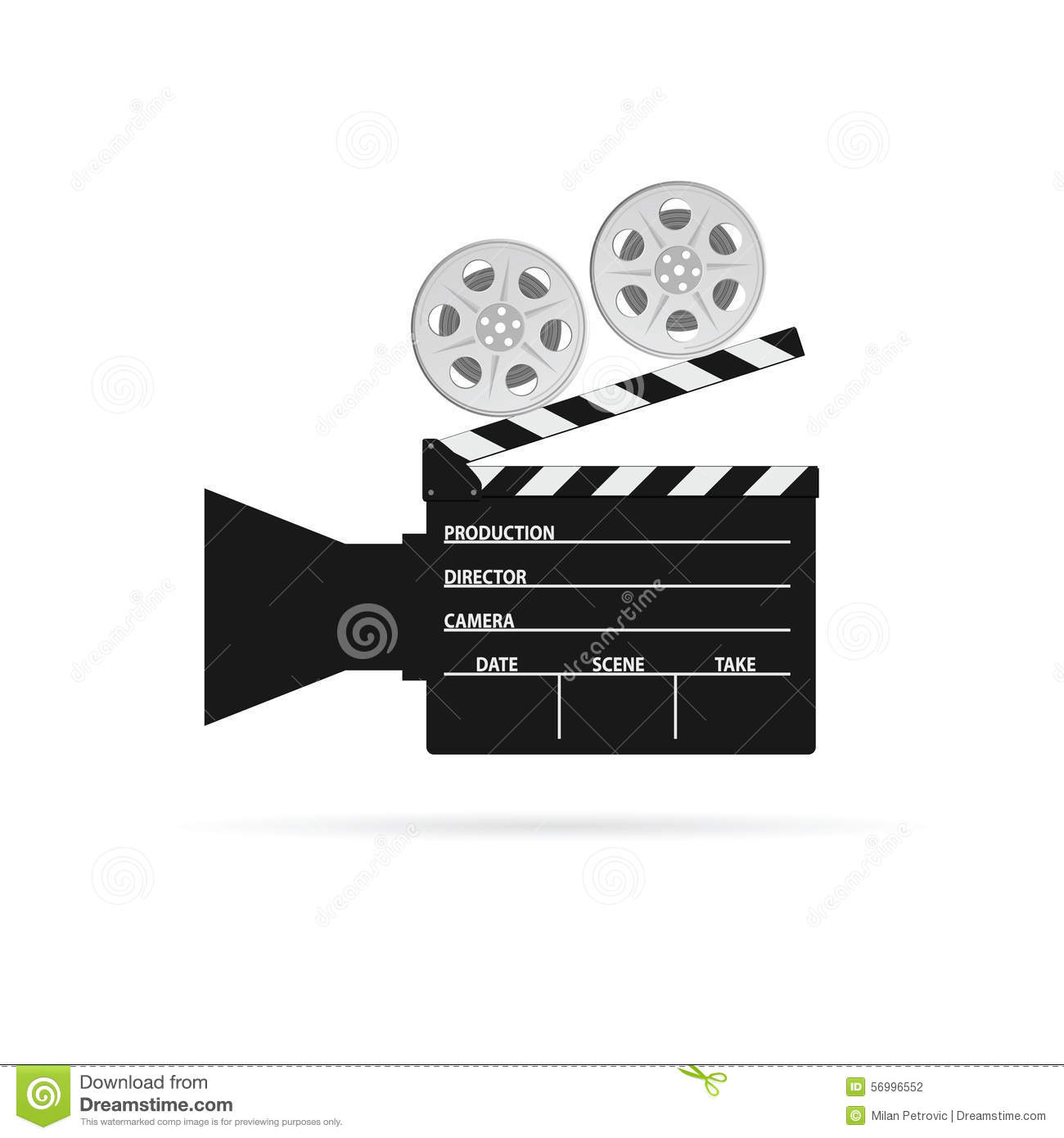 Film Camera Roll Black Vector Stock Vector - Image: 56996552