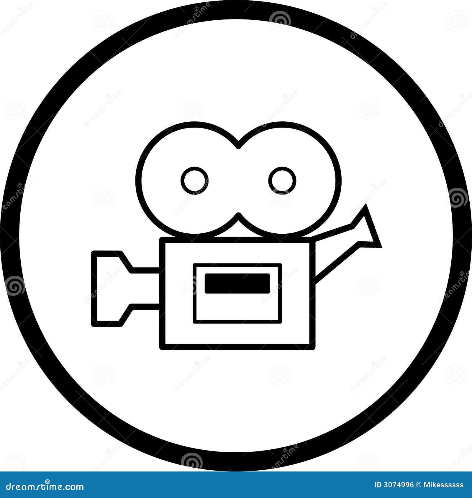 film camera vector symbol stock vector illustration of