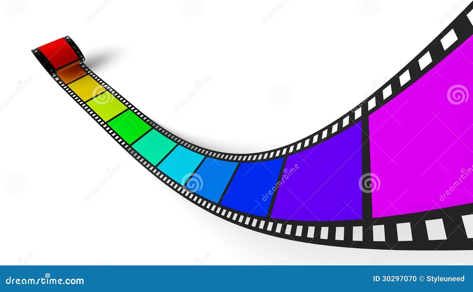 Film con i colori dell 39 arcobaleno illustrazione di stock - Arcobaleno a colori e stampa ...