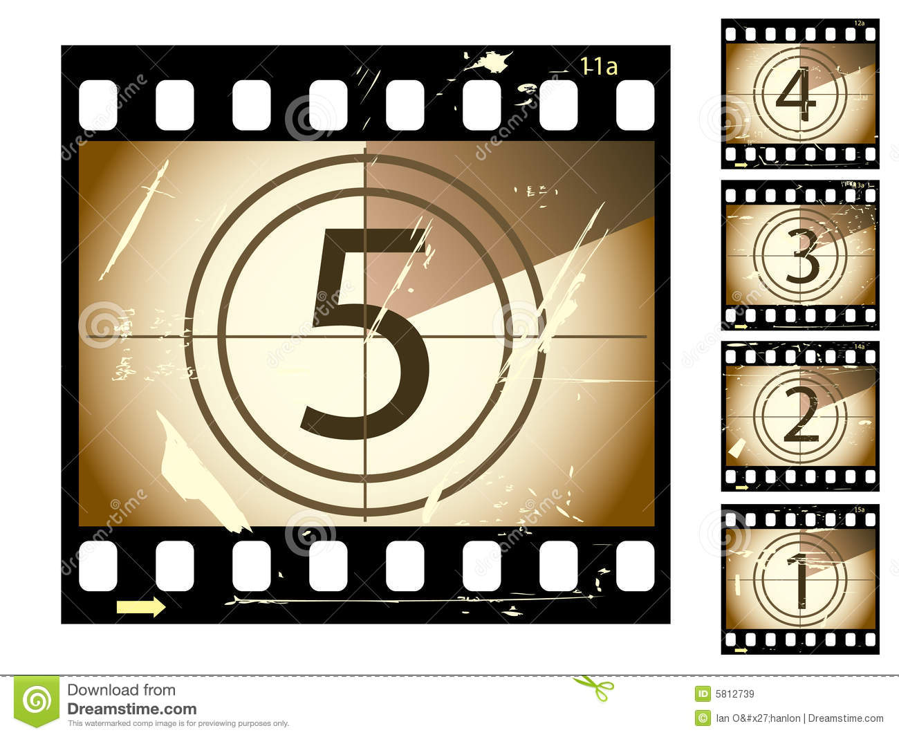 Film Countdown Royalty Free Stock Images - Image: 5812739