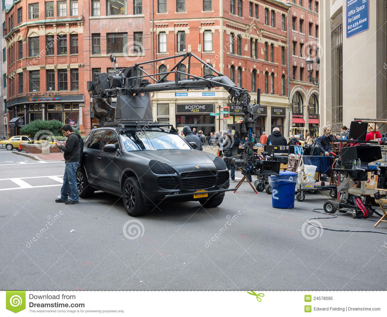 Film Crew filming a movie on location RIPD