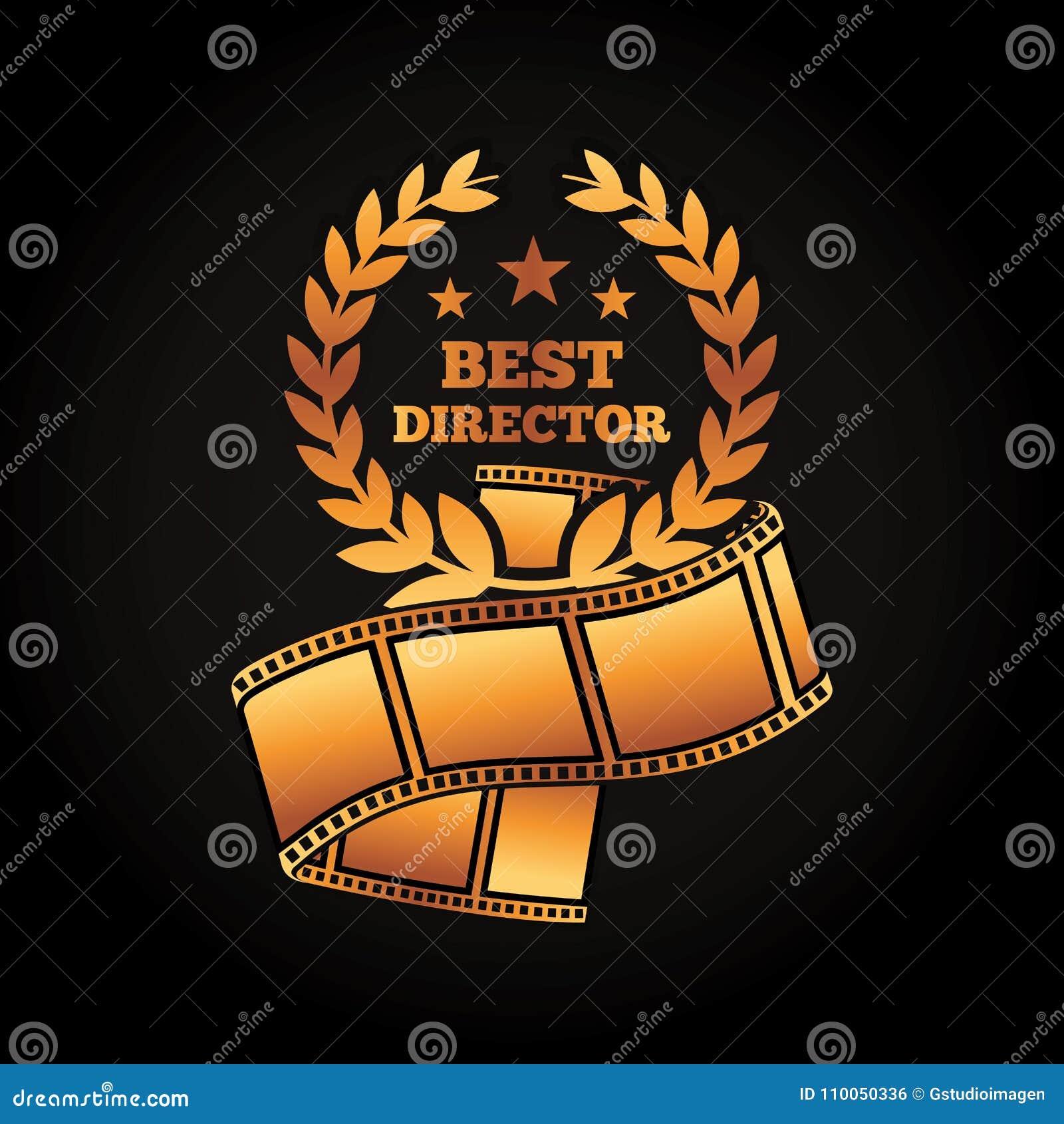 Film de film de bande de laurier de directeur de récompense d or le meilleur