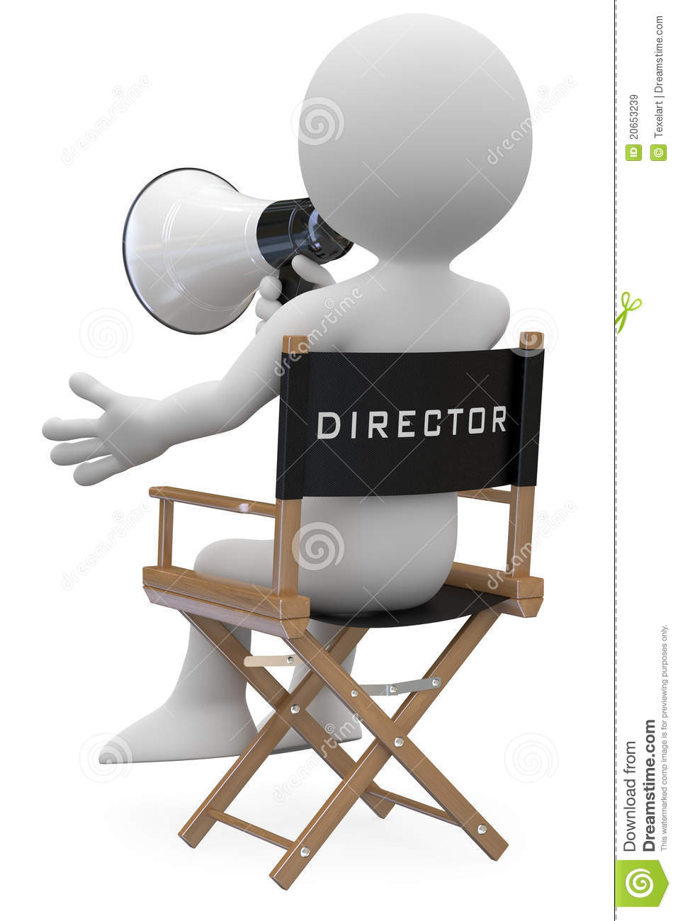 Film Director Sitting In A Chair Royalty Free Stock Images - Image ...