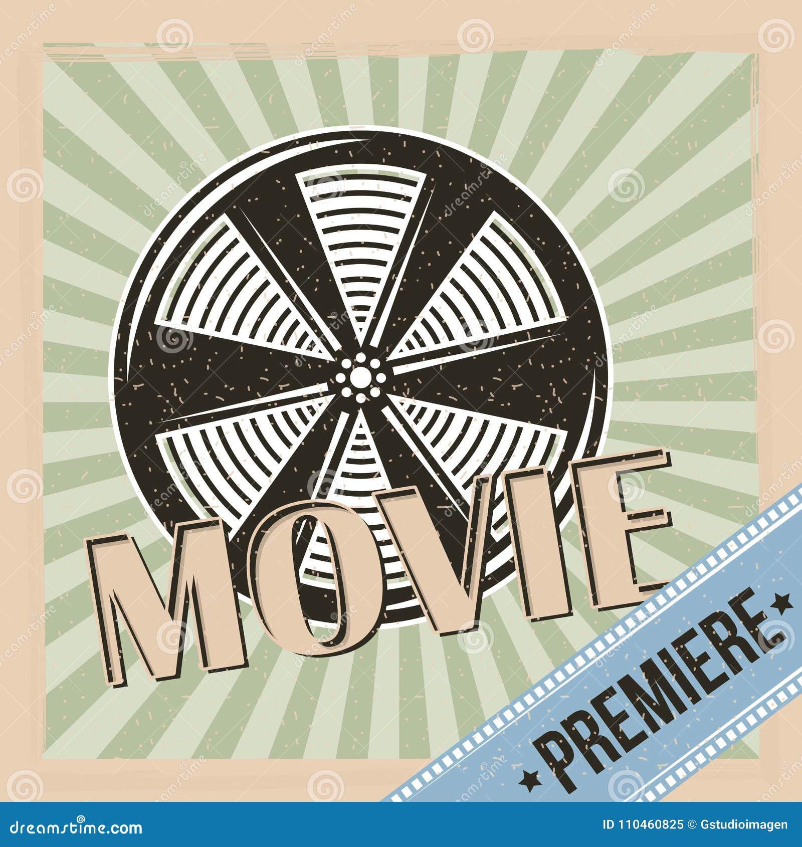 Film för filmpremiärrulle och bandbakgrundstappning