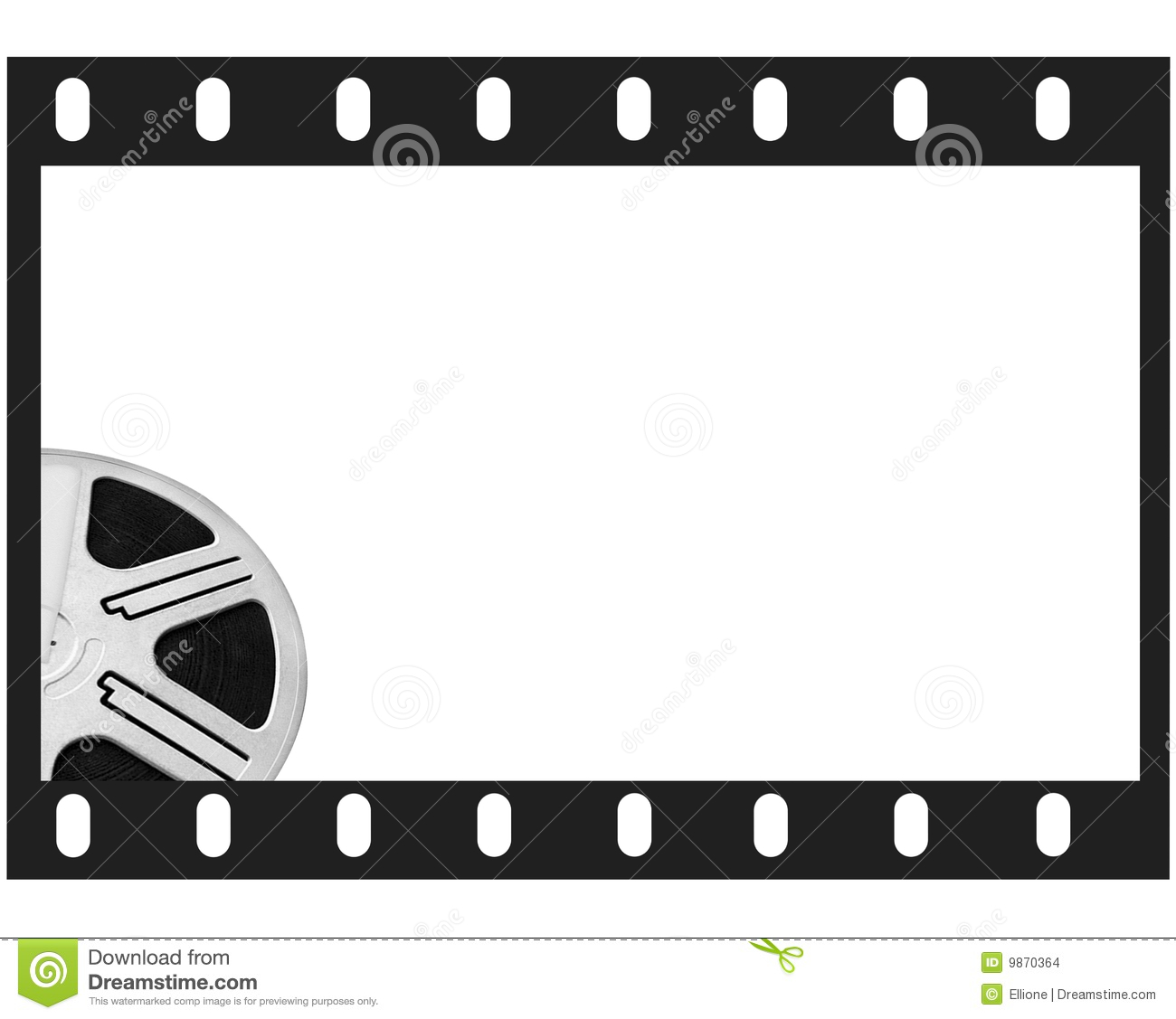 Film Frame And Round Reel Film Stock Illustration - Illustration of ...