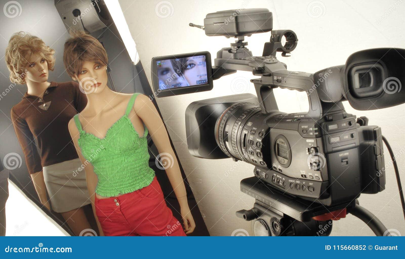 Film het schieten en videoproductie in de reeks van de cinematografiestudio