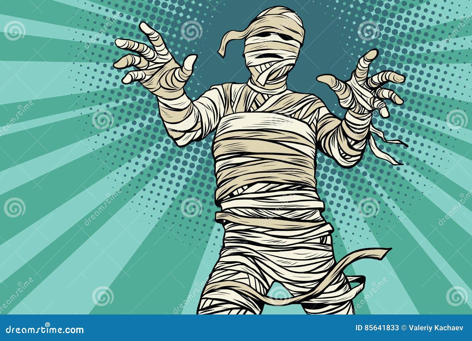 Film horror egiziano d annata e Halloween della mummia