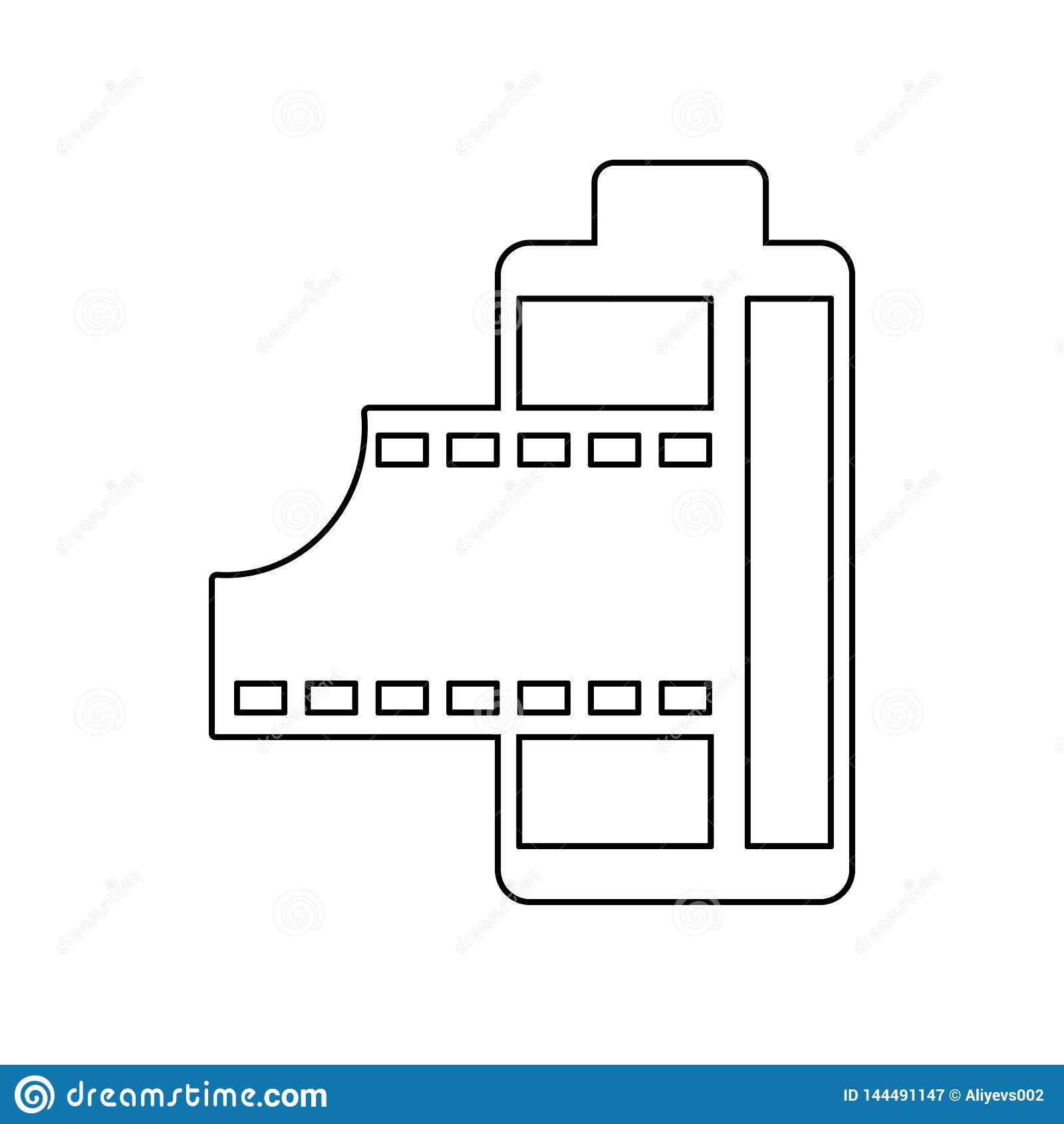 film icon. Element of Equipment photography for mobile concept and web apps icon. Outline, thin line icon for website design and