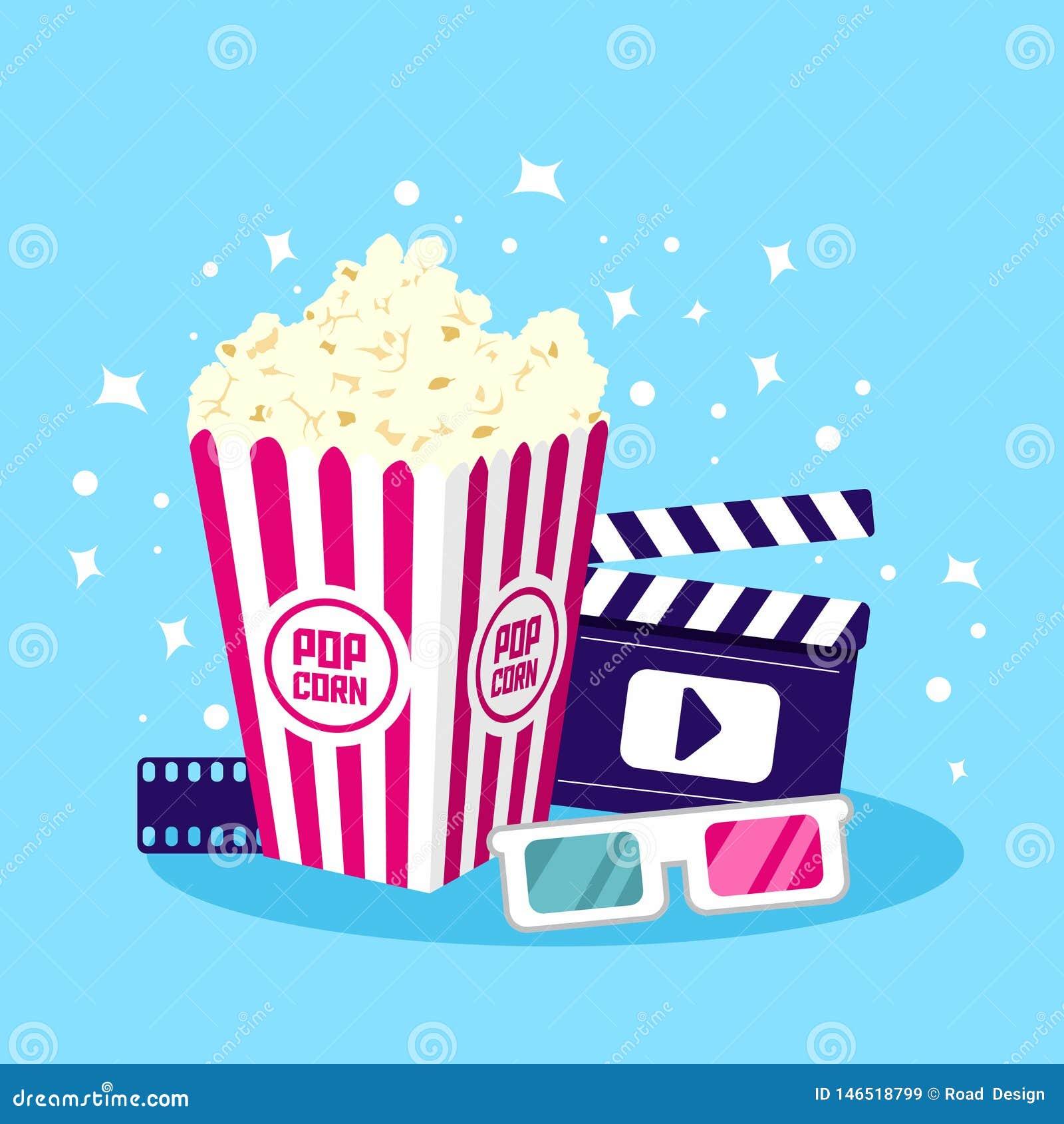 Film-Ikonen-Vektor-Illustration Einzelteil für Kino und Film