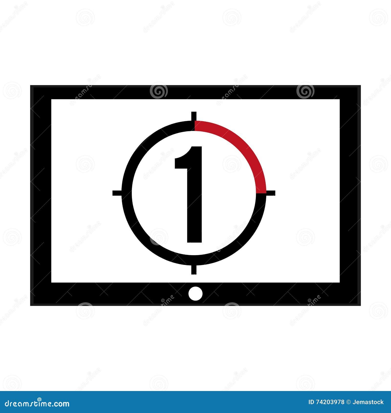 film leader countdown icon