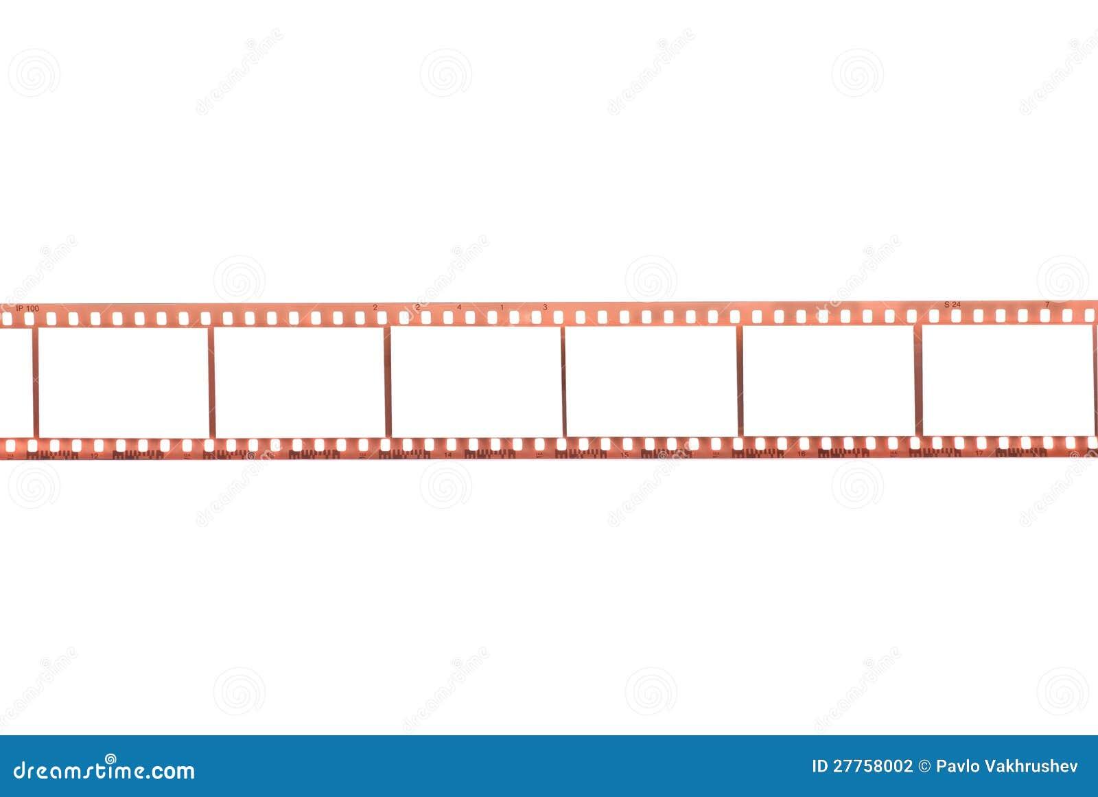 Film photographique avec les trames vides