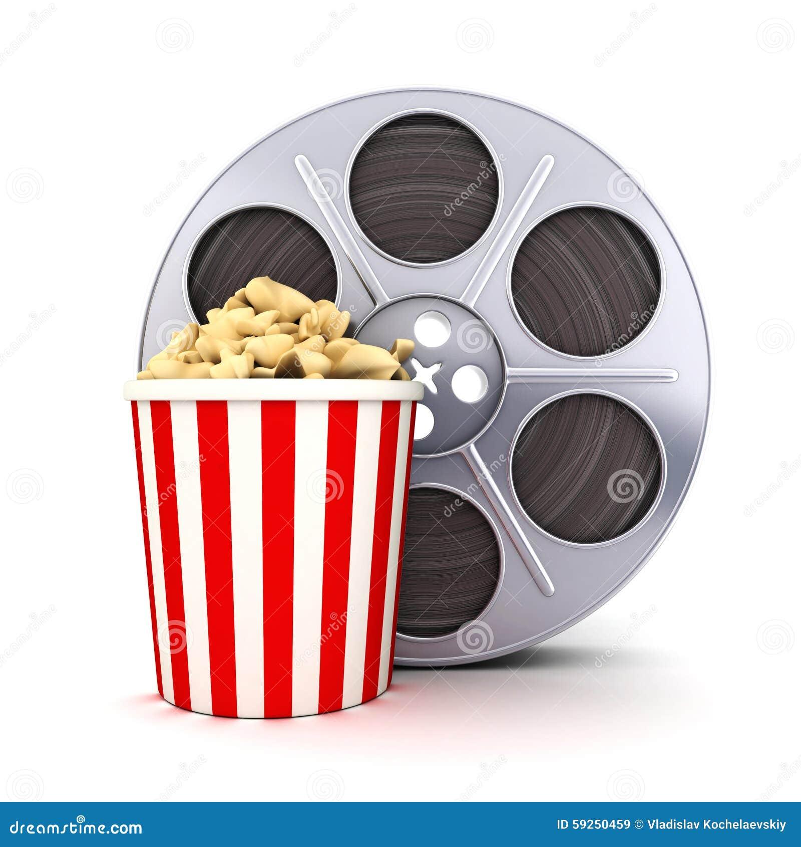 Film And Popcorn Stock Illustration Illustration Of Spool