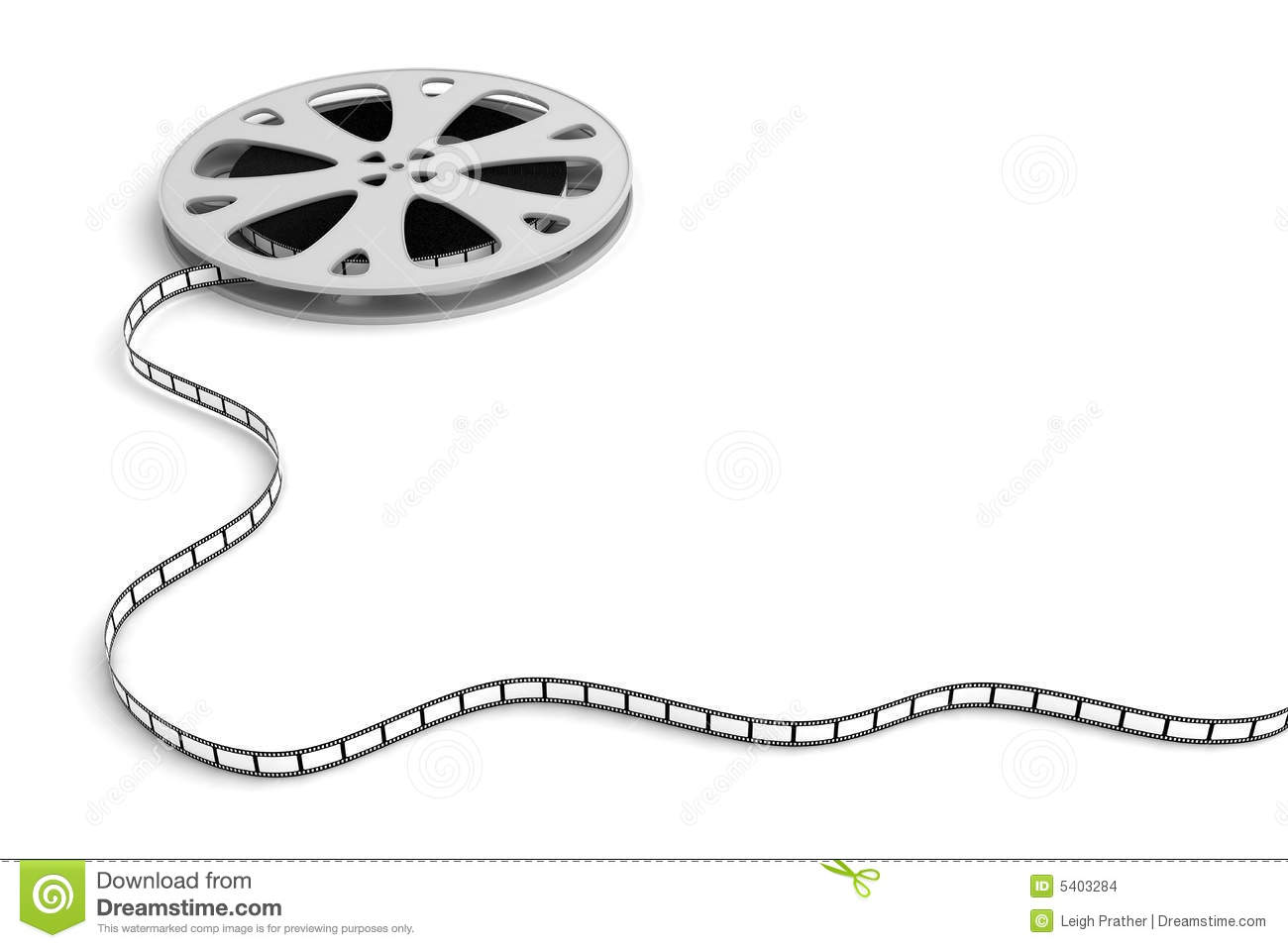 movie film with blank frames on white stock photo istock