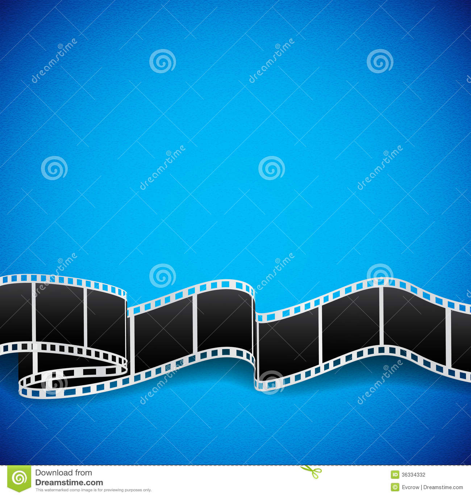 Film Reel Background Stock Photography - Image: 36334332