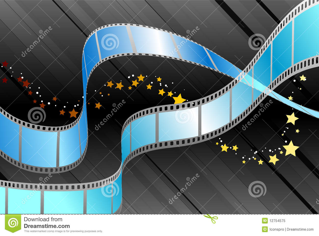 Film Reel On Black Background Royalty Free Stock Photo ...