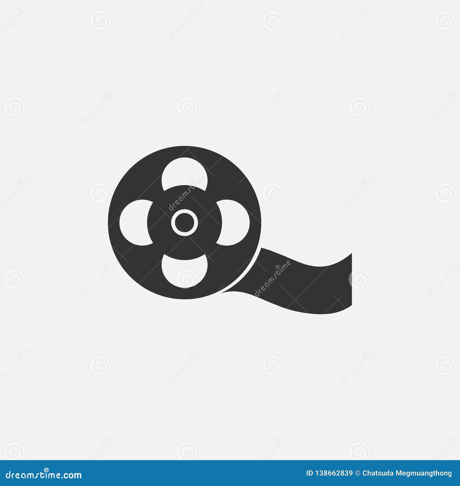 Film reel icon, film, reel, cinema, movie