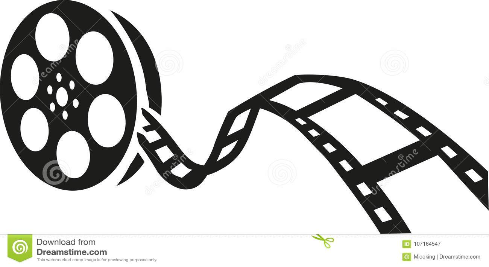 Film Reel Movie Stock Vector Illustration Of Movie 107164547