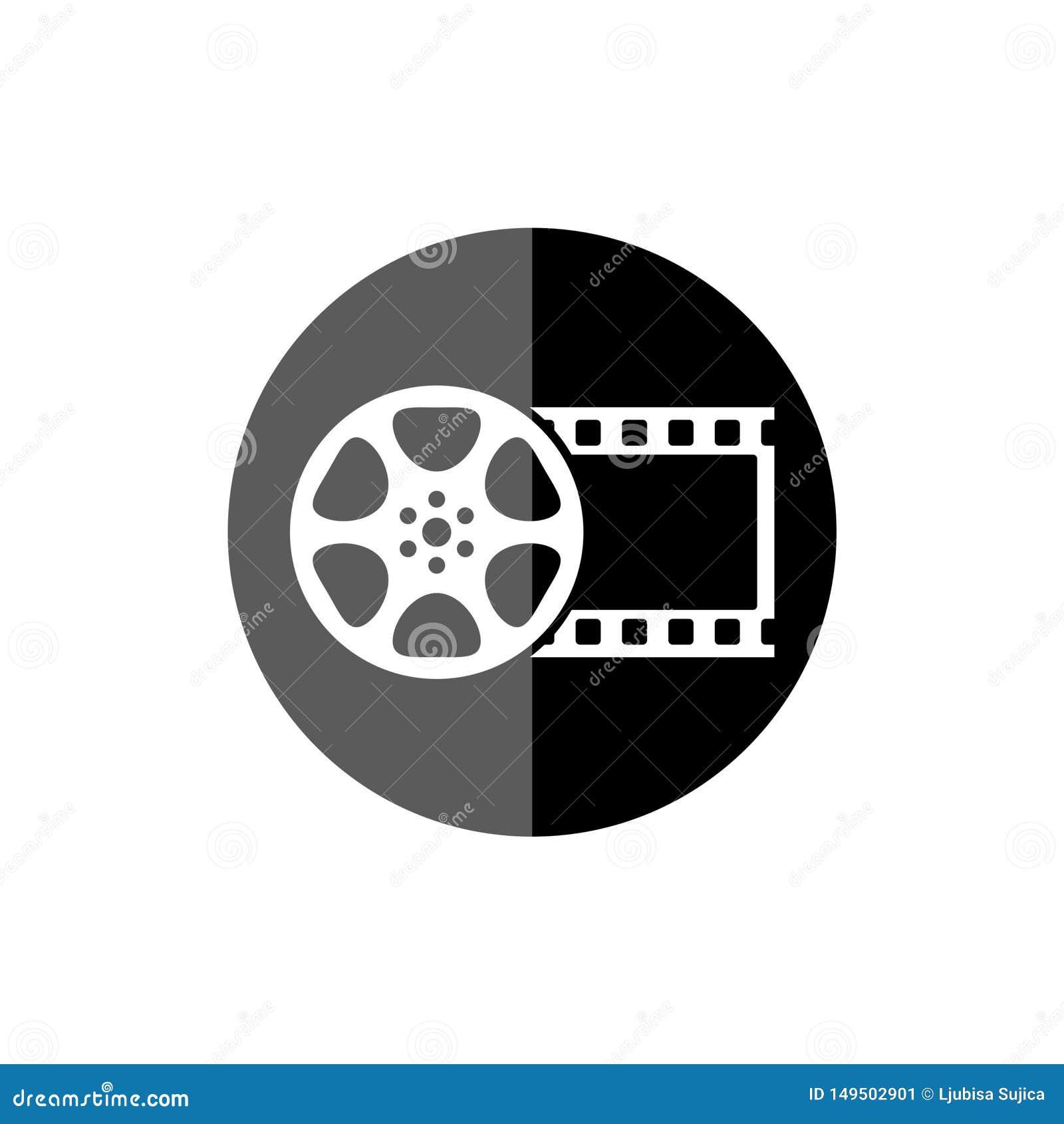Film reel movie, The video icon, Movie symbol