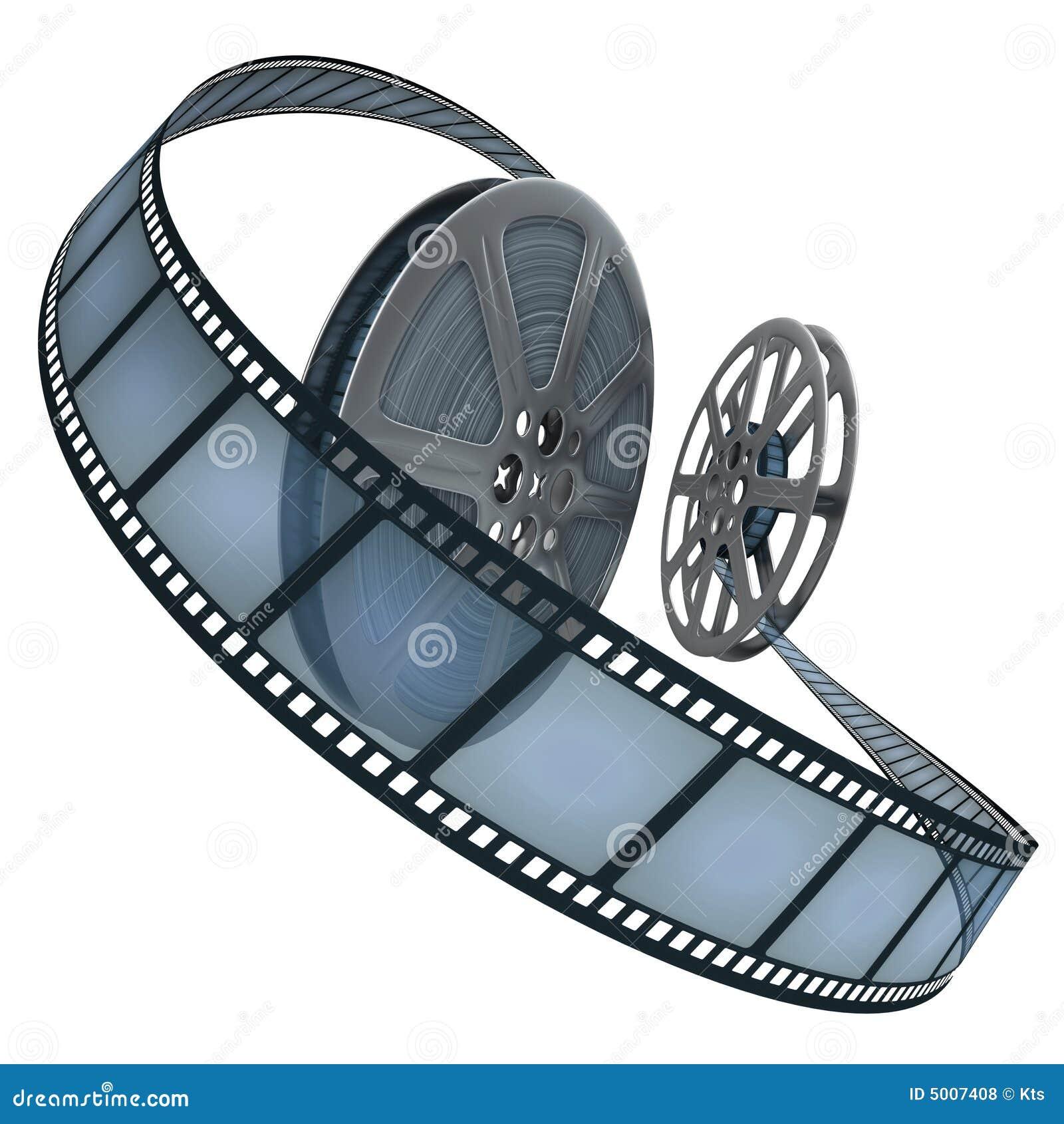 Film Reel Over White