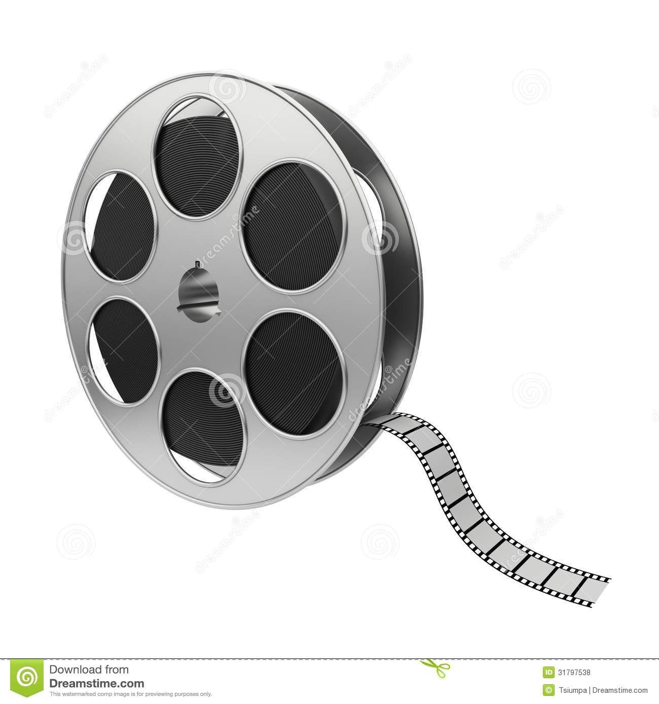 Film reel stock illustration. Illustration of objects ...