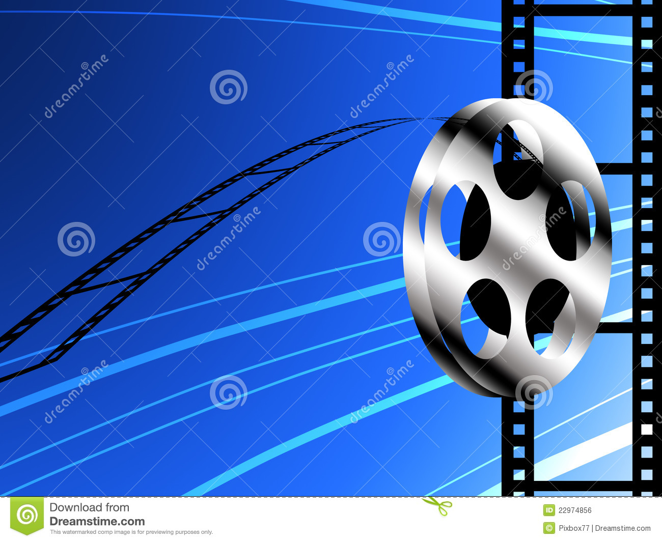 Film Roll Background Royalty Free Stock Image  Image: 22974856