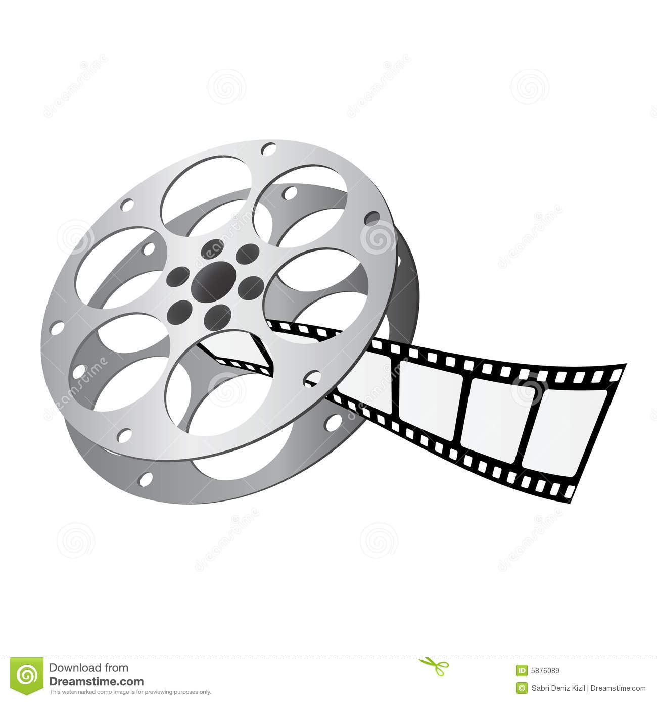 Film Roll Vector Royalty Free Stock Images - Image: 5876089