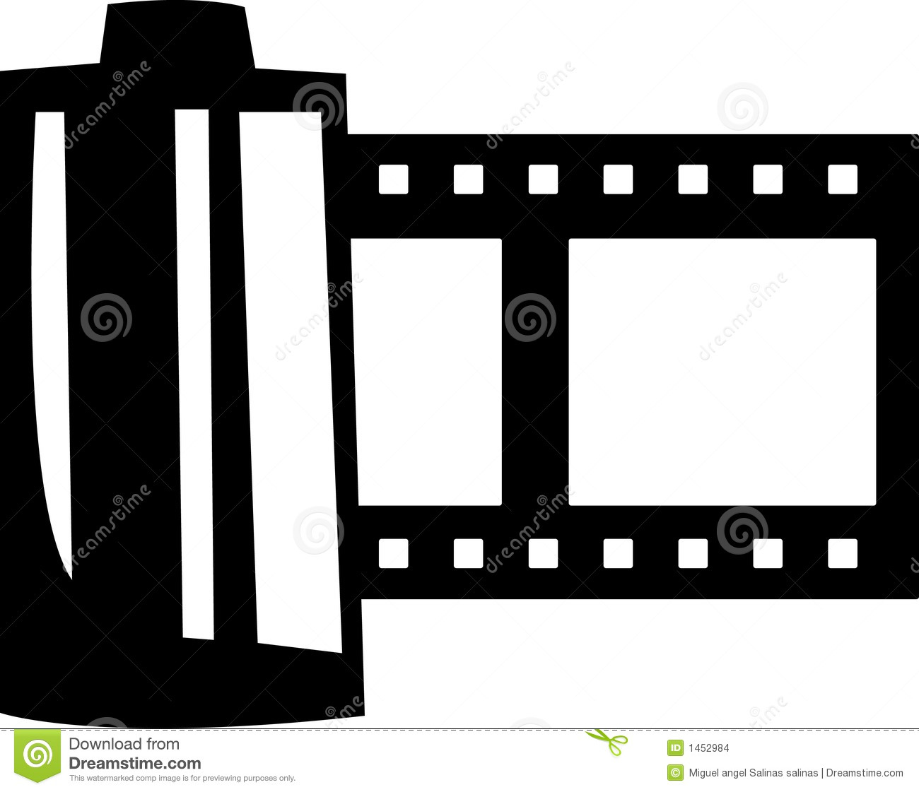Film Roll Vector Illustration Stock Vector - Image: 1452984