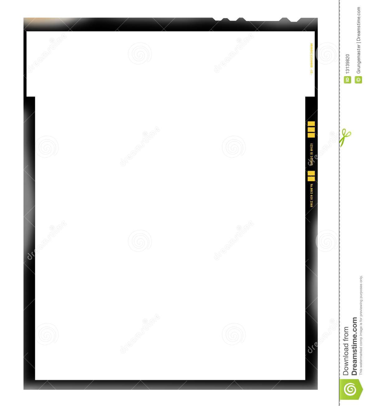Film Sheet Negative, Picture Frame Stock Photo - Image of background ...