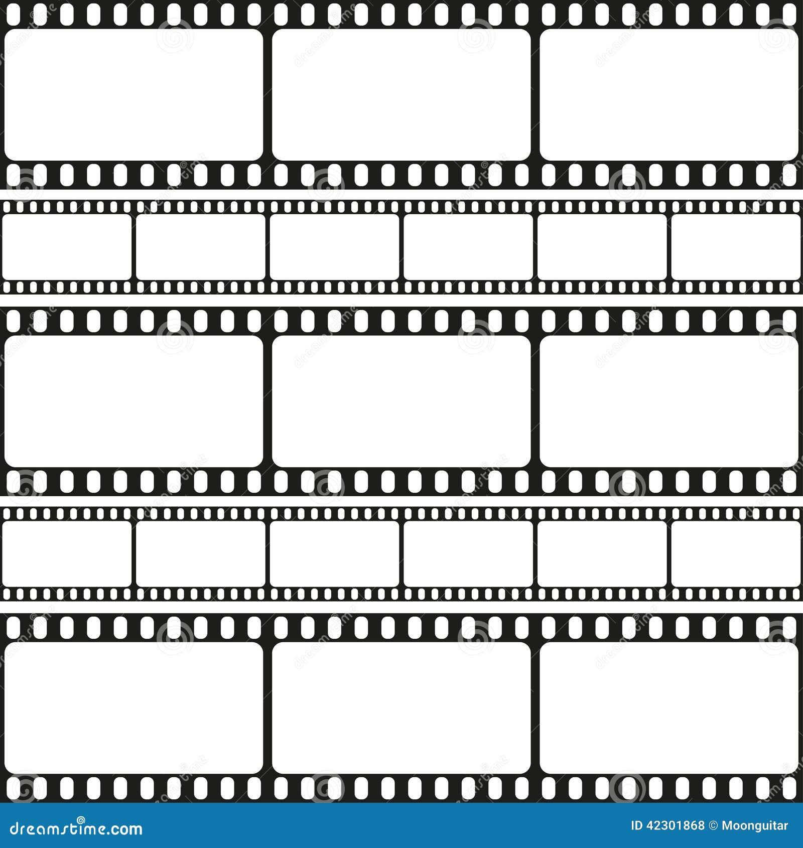 Film Streift Nahtloses Muster, Retro- Hintergrund, Vektor Ab Vektor ...