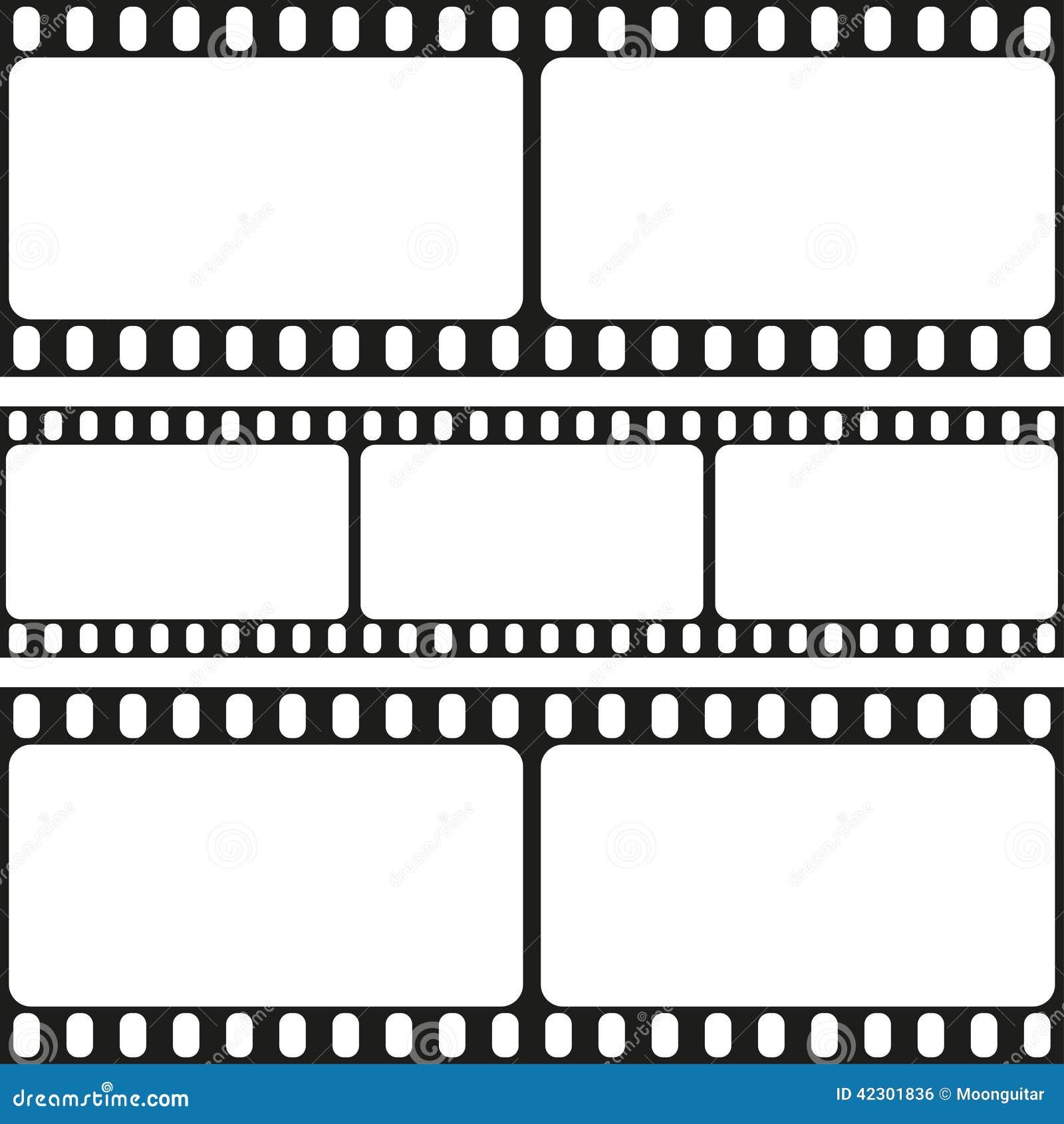 Film Streift Nahtloses Muster, Vektor Ab Vektor Abbildung ...