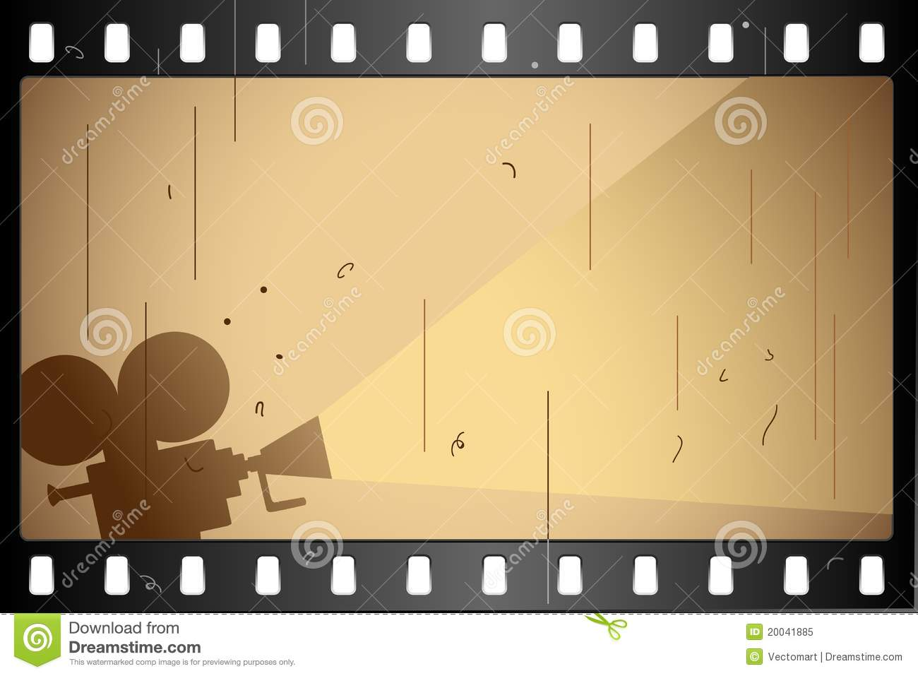 Film Strip stock vector. Illustration of cinematographic ...
