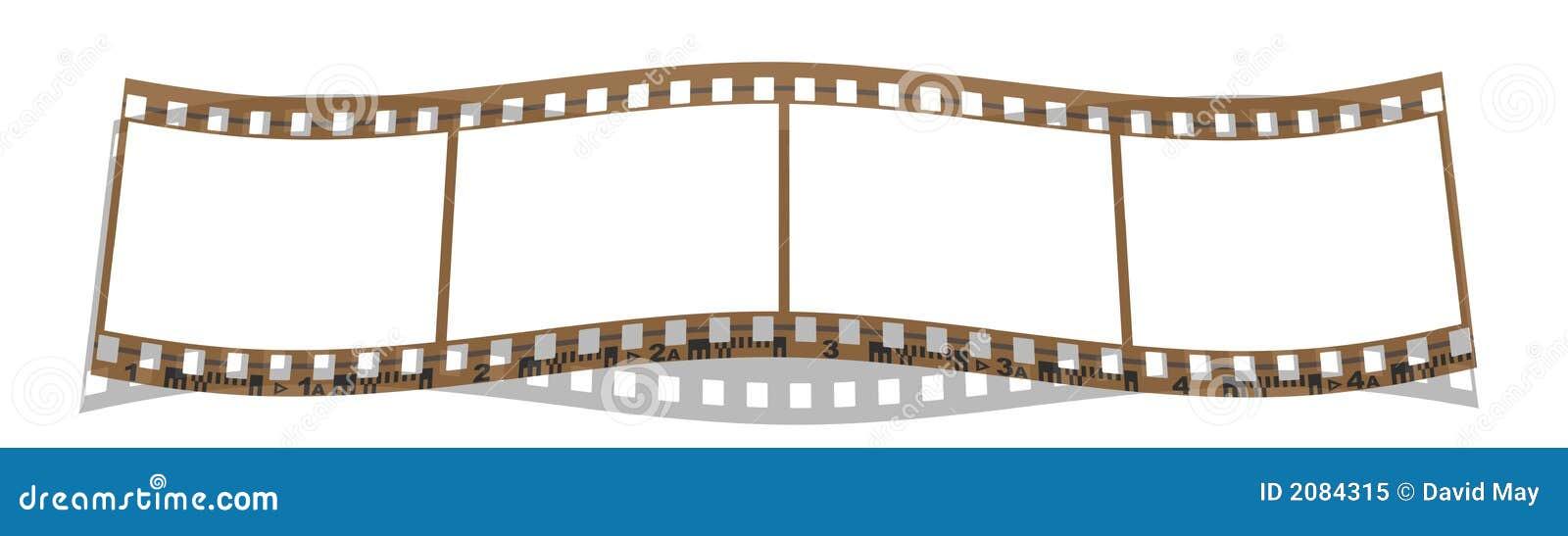Film strip 4 frames stock illustration. Illustration of pictures ...