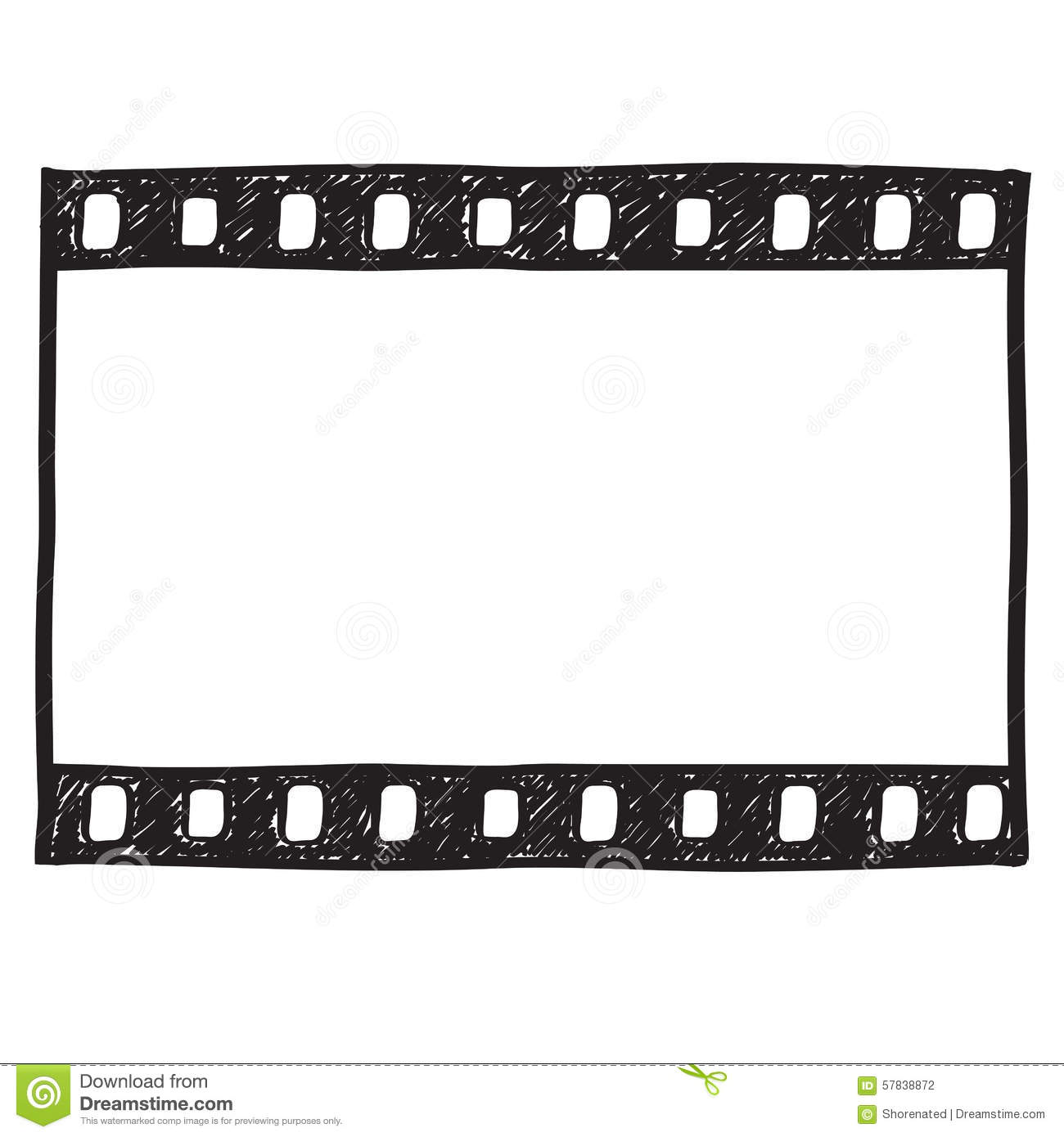 Grunge Film Frame effect stock illustration. Illustration of movie ...