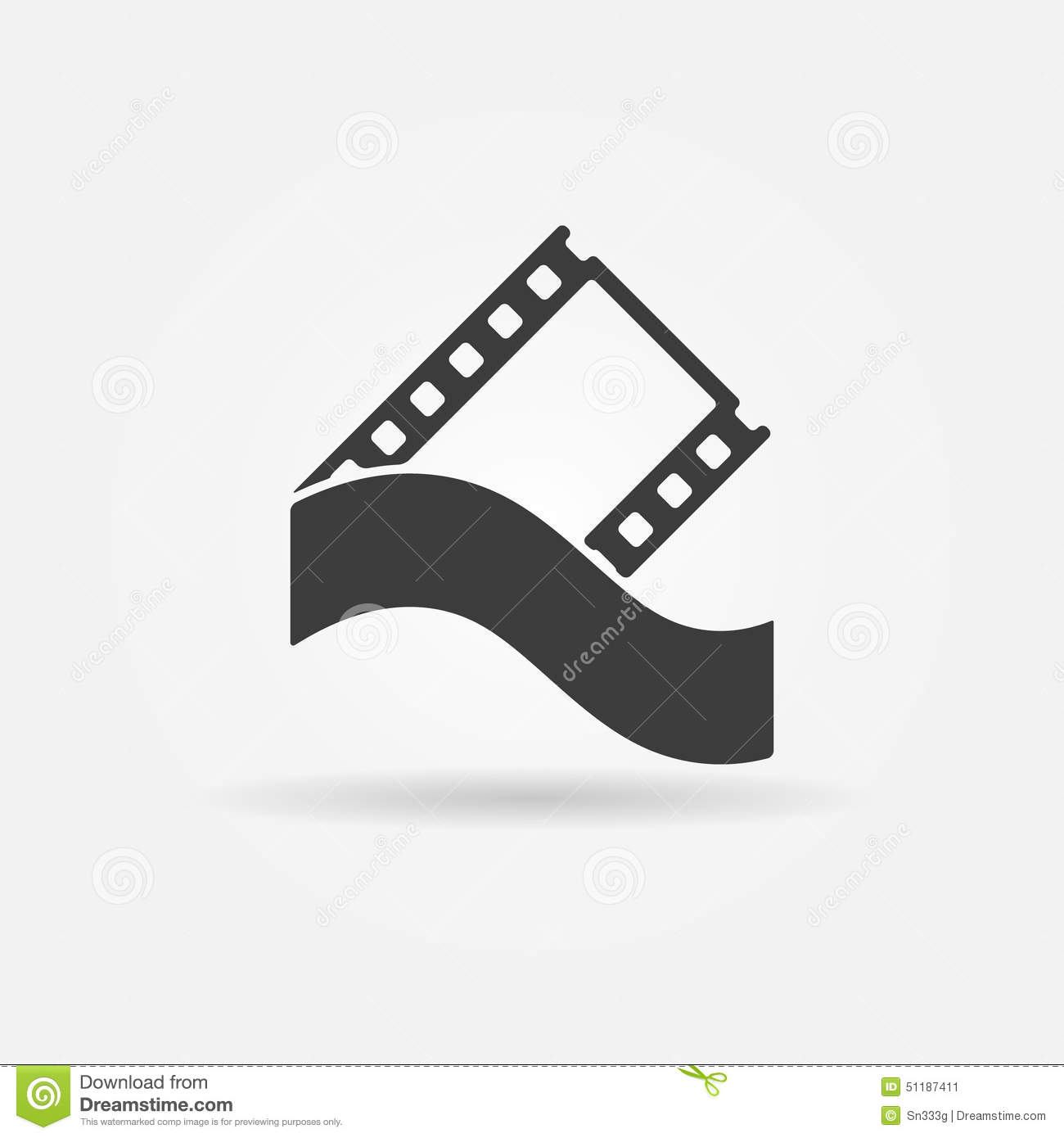 Film Strip Concept Logo Or Icon Stock Vector - Image: 51187411
