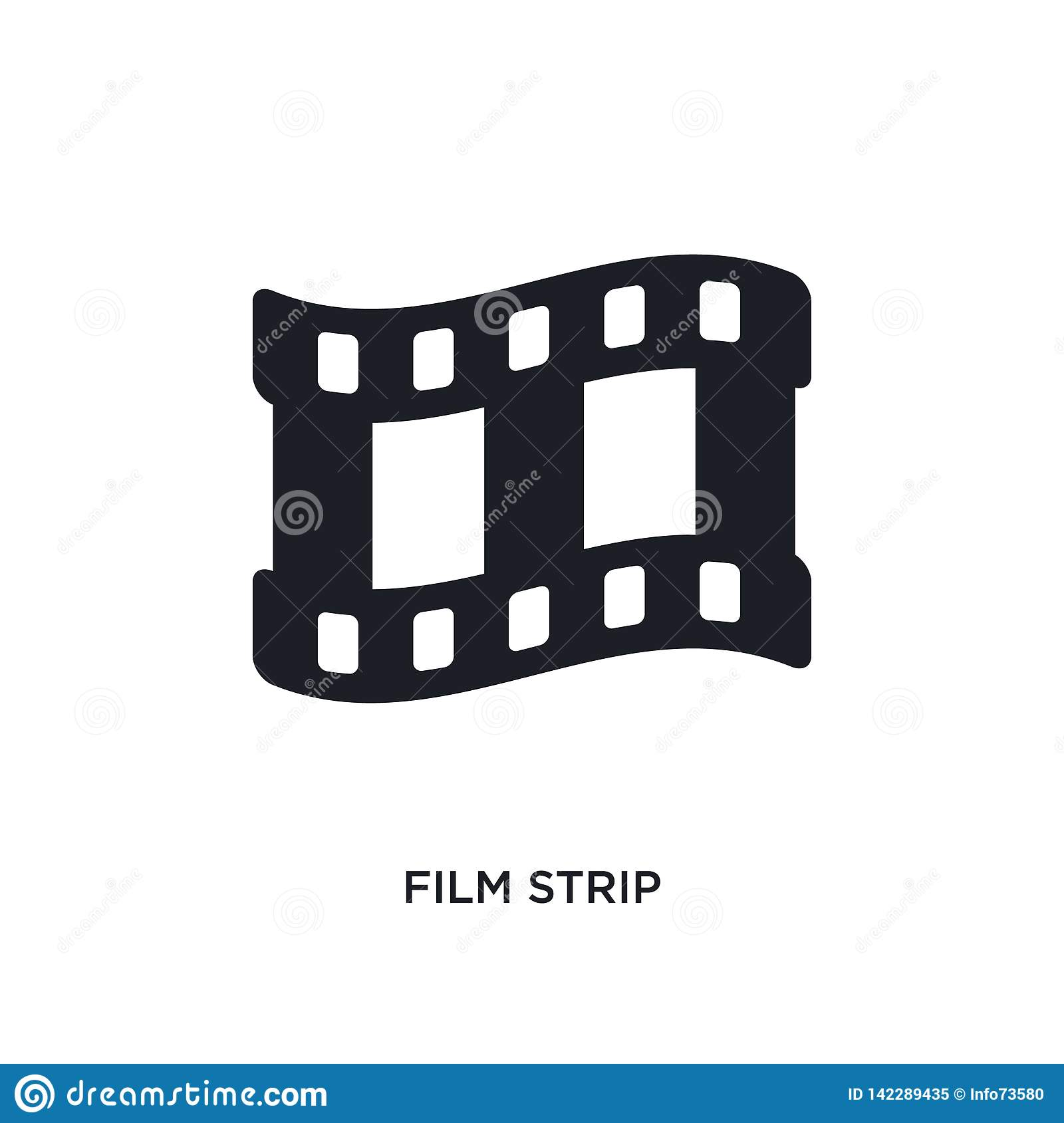 film strip isolated icon. simple element illustration from electronic stuff fill concept icons. film strip editable logo sign