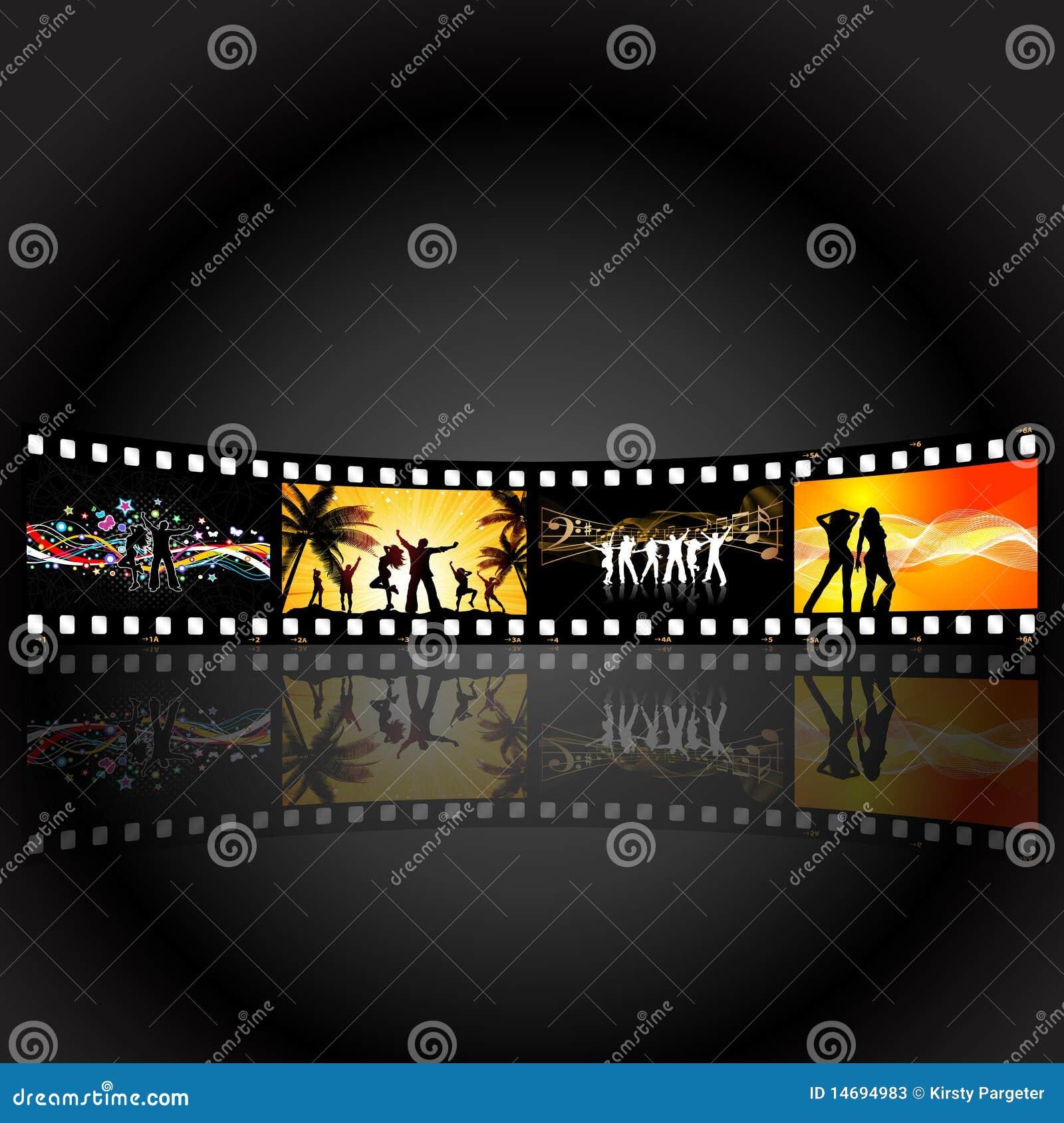 Film Strip Party People Stock Photos - Image: 14694983