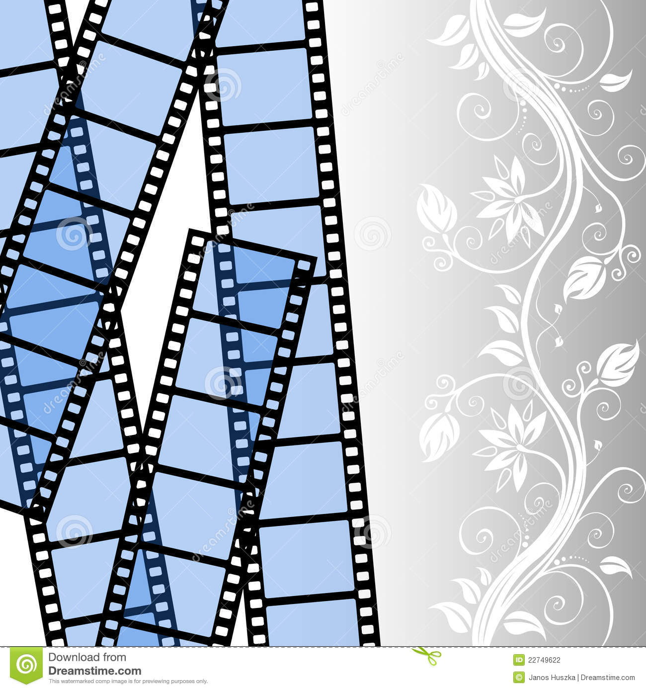 Film strip template stock vector image of cinema graphic for Film strip picture template