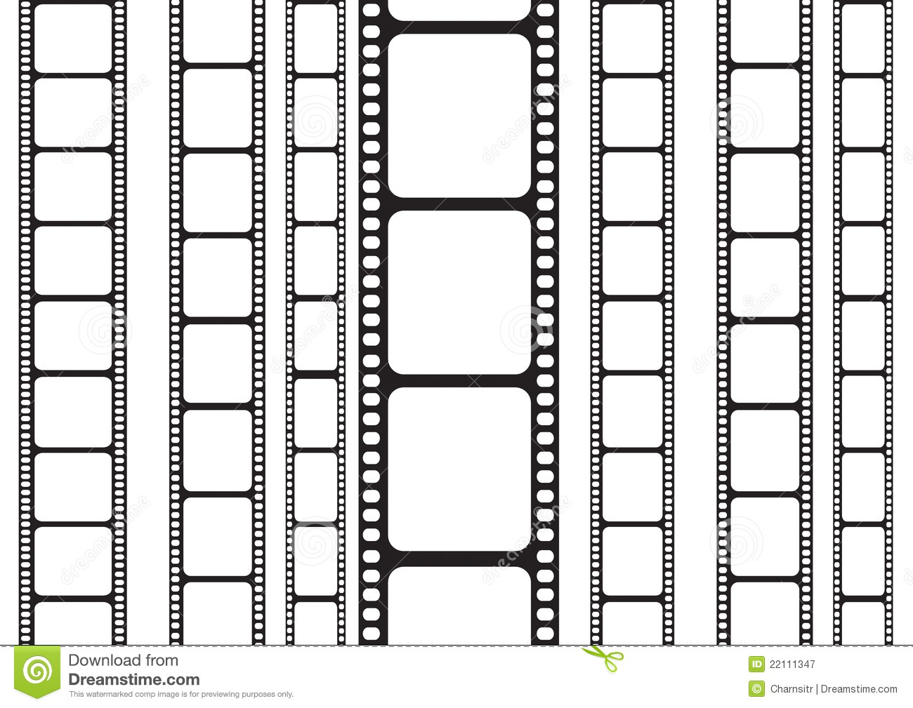 Film Strip On A Vertical Side Royalty Free Stock