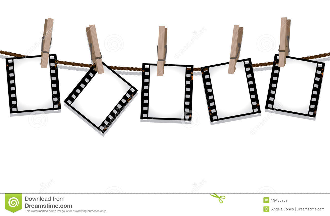 Design Hanging Photos film strips hanging out to dry royalty free stock photography photo