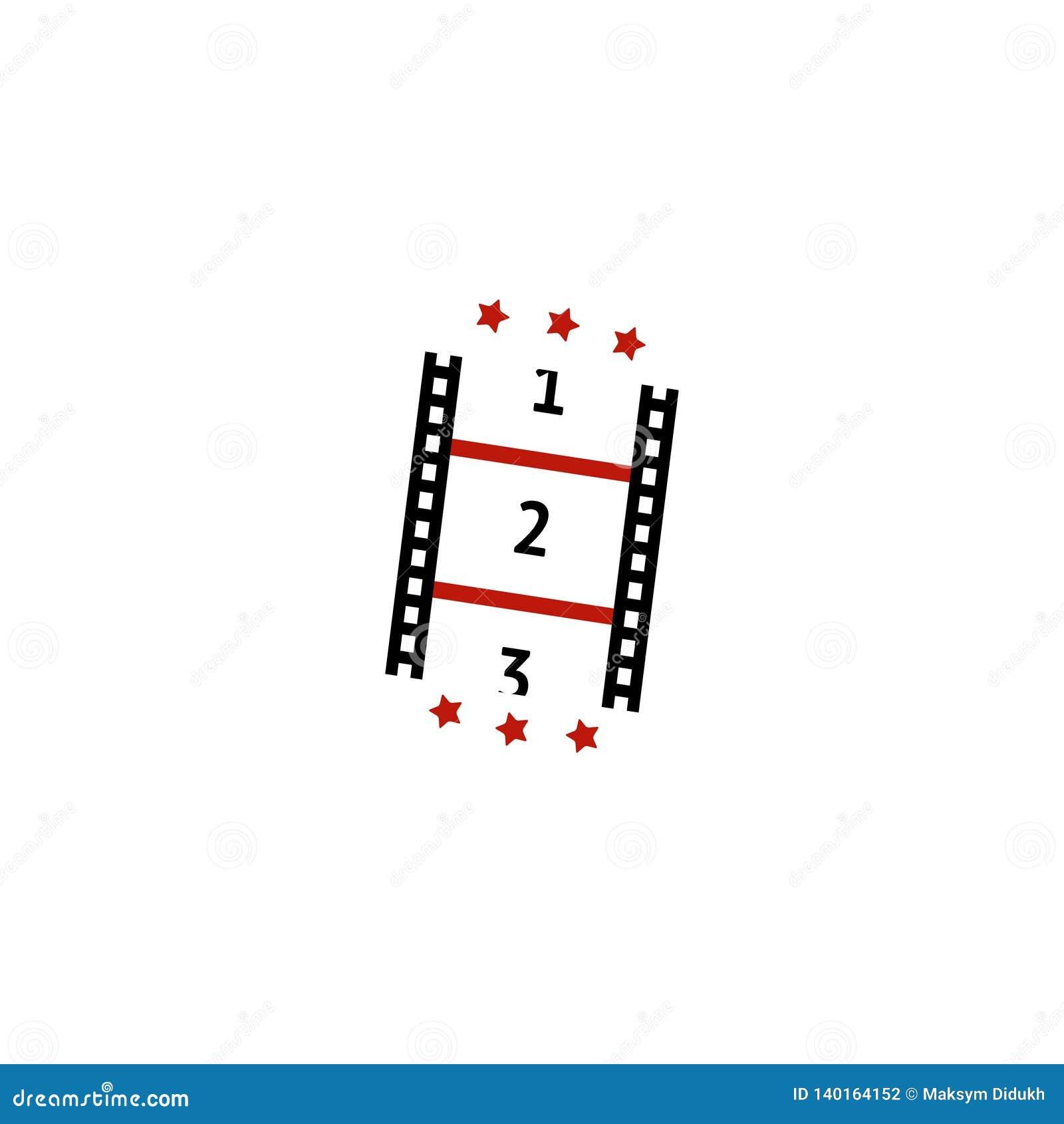Film trim. Strip icon. Vector illustration. EPS 10