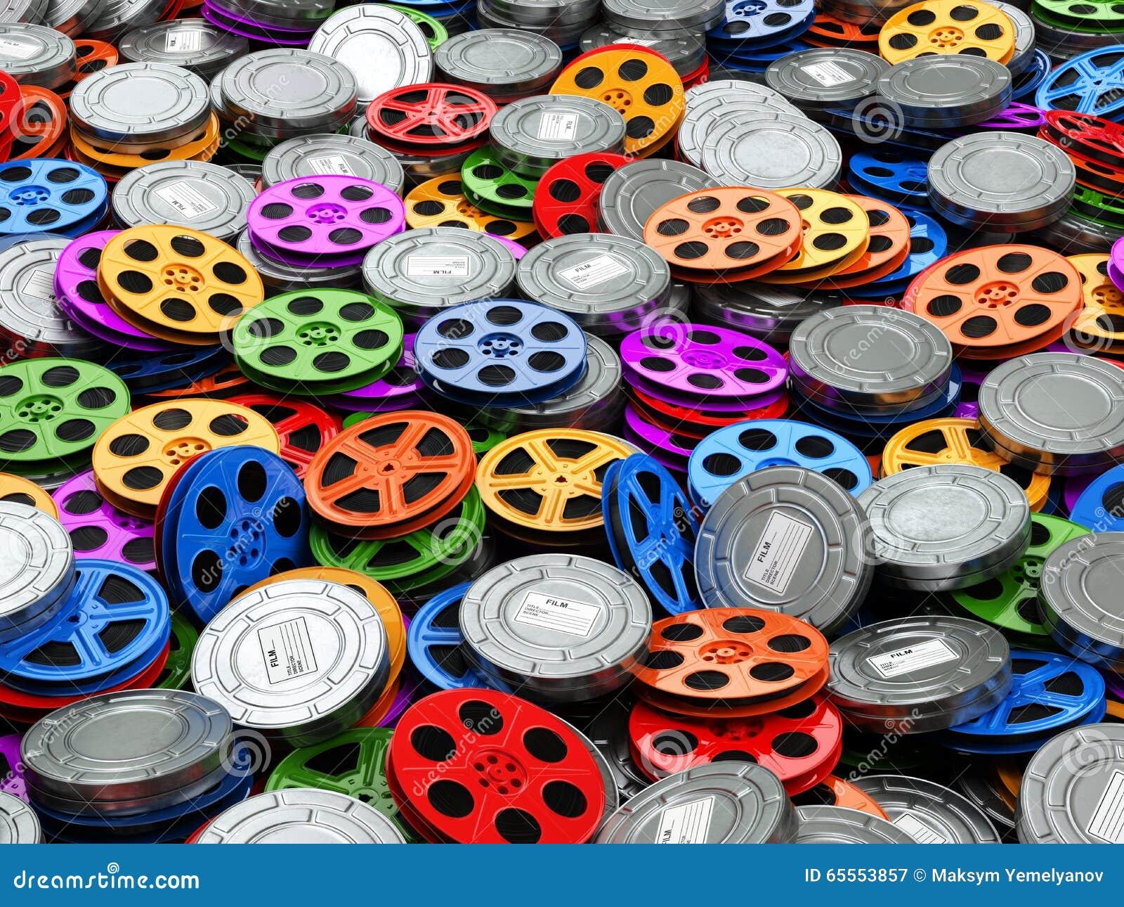 Filma concepto de la colección El cine, película, vídeo aspa fondo