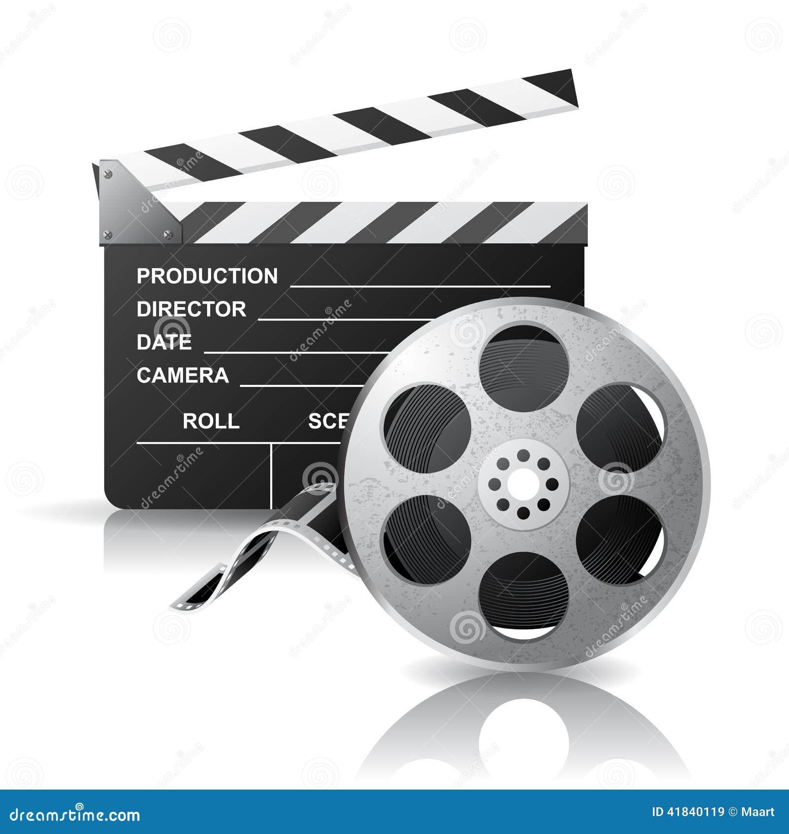 Filmclapper- och filmrulle