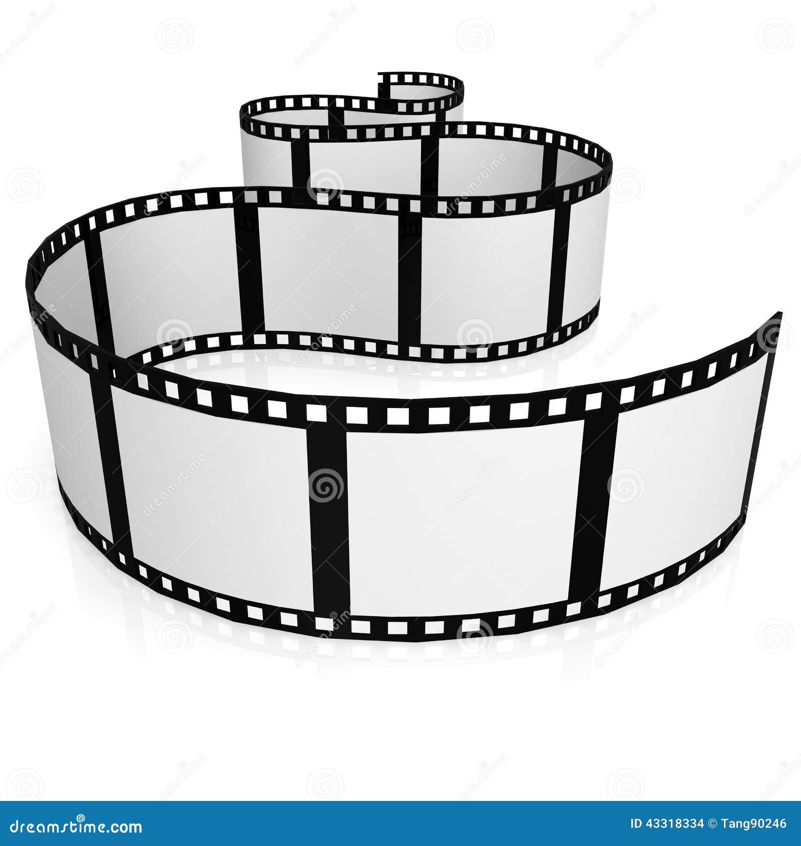 Filmen Sie Streifen Stock Abbildung - Bild: 43318334