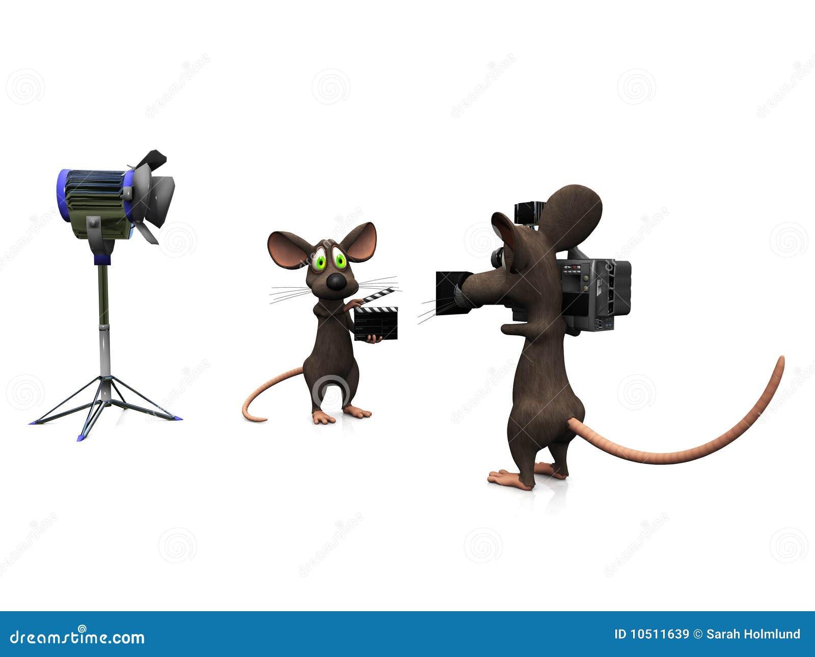 Filmer de souris de dessin animé.