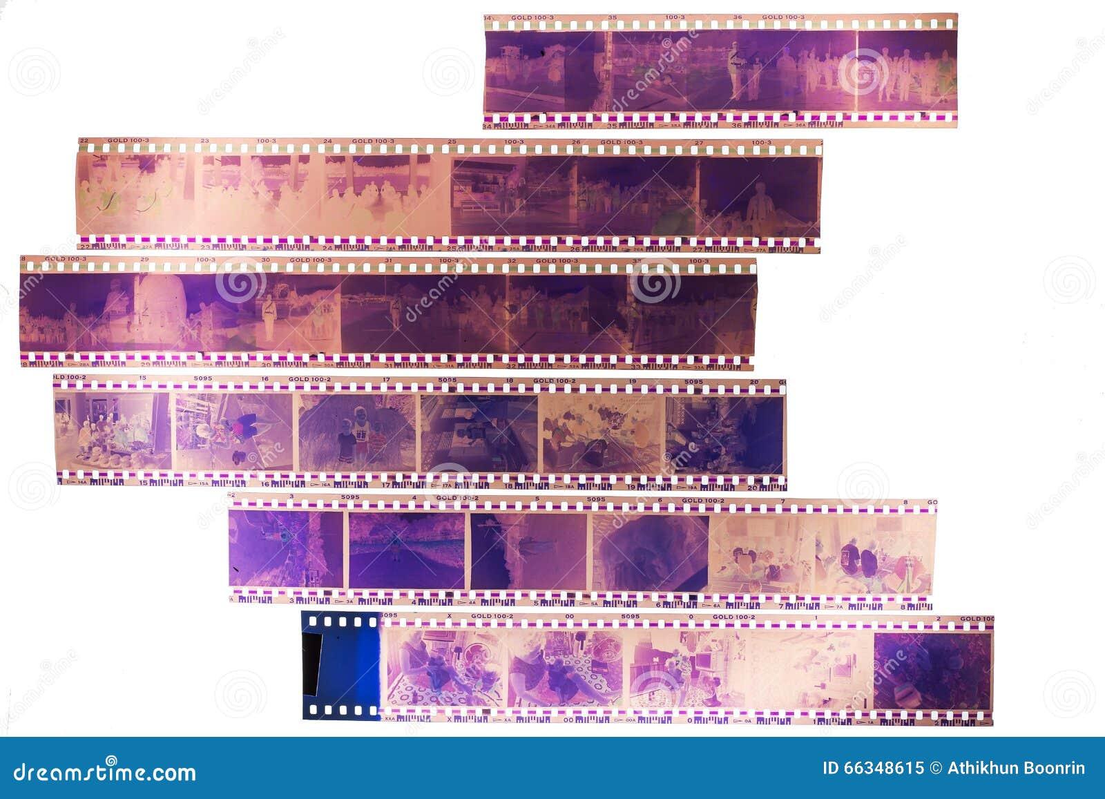 Filmes velhos no fundo claro