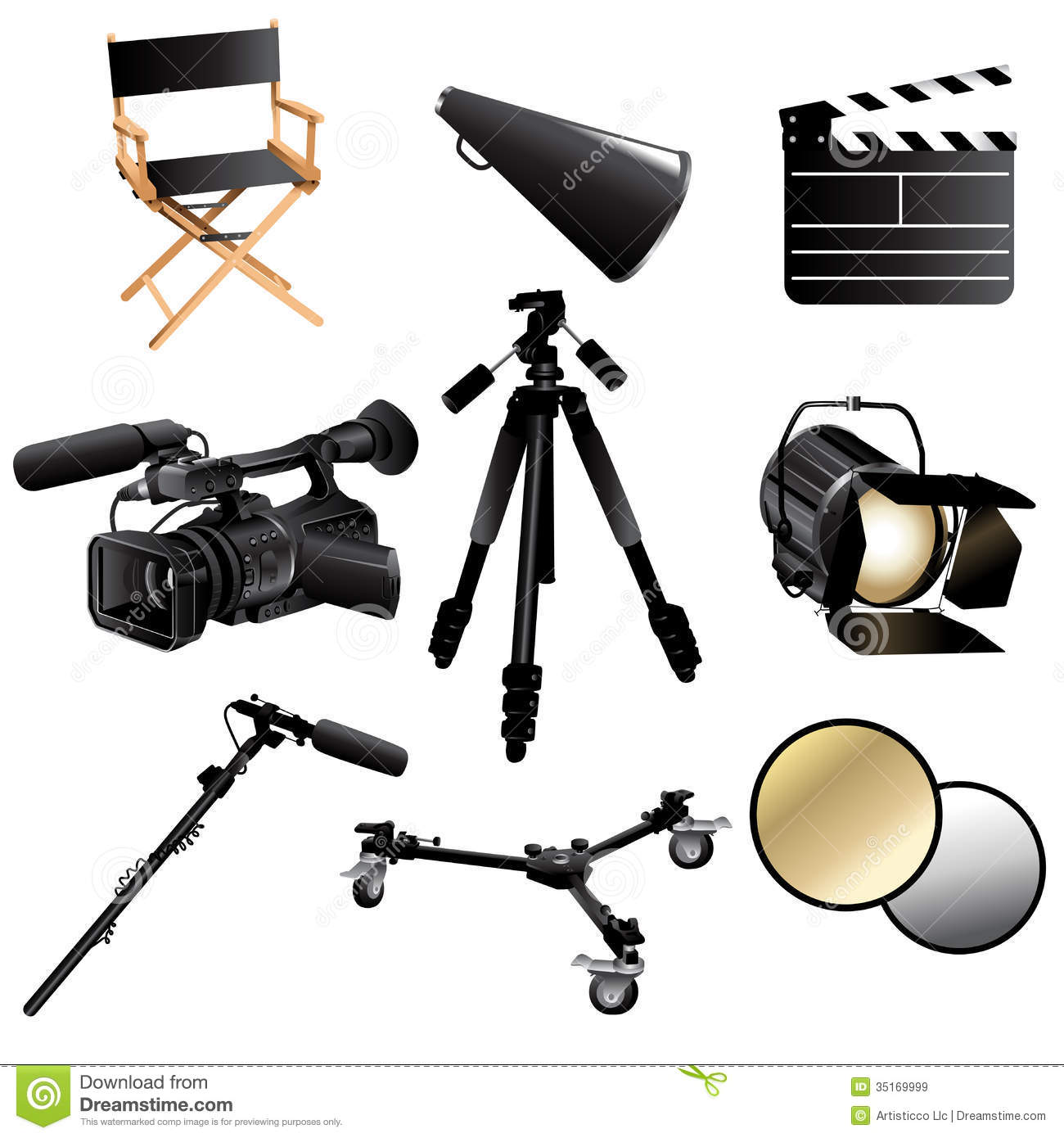Filming Movie Icons Royalty Free Stock Images Image