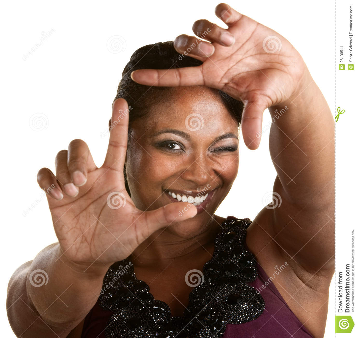 Download Filmmaker Sizing With Fingers Stock Image - Image of attractive, african: 26130511