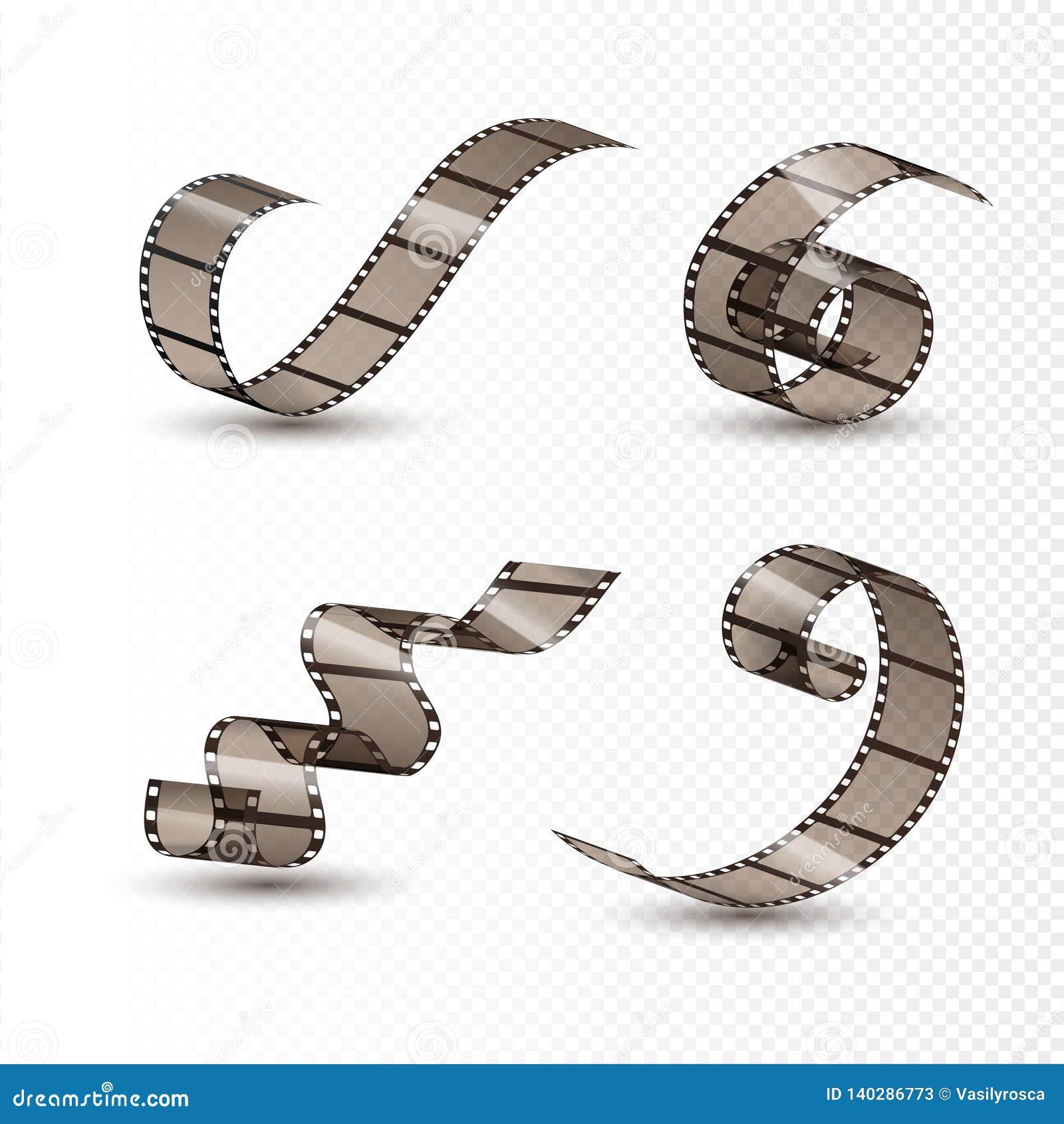 Filmremsarulle Fastställd design för bioband Bildbandfilmunderhållning Filmkonstram